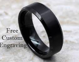 black wedding rings wedding bands etsy