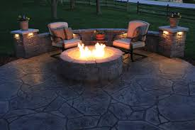 Fire Columns For Patio Architecture Traditional Patio Plus Columns Also Seat Wall And