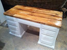 Building A Wooden Desk by Wood Desk Top Desktop Upcycle Intended Ideas