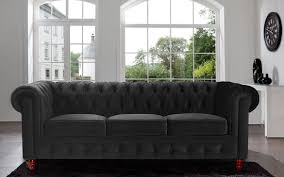 Leather Chesterfield Style Sofa Divano Roma Furniture Velvet Scroll Arm Tufted Button