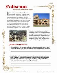 roman coliseum worksheet education com