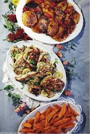 gourmet turkey marinated turkey breast with grilled pineapple yam fries
