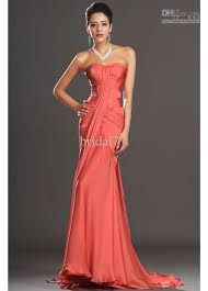 coral mermaid chiffon evening dresses 2014 new asymmetrical