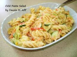 cold pasta dish cold pasta salad recipe from fauziaskitchenfun com