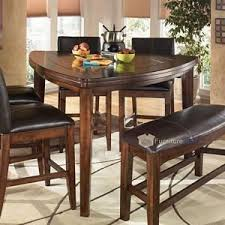 triangle pub table set larchmont rustic dark brown triangle dining room counter