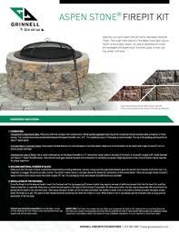 Fire Pit Kit Stone by Grinnell Pavers Aspen Stone Firepit Kit
