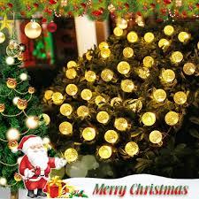 amazon com icicle solar christmas string lights waterproof 30