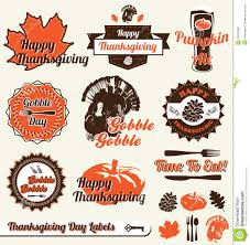 thanksgiving labels vector set retro thanksgiving labels royalty free stock photo