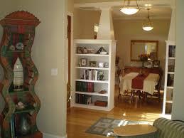 Shelf Floor L L Shaped White Wooden Shelf Divider On Laminate Flooring And White