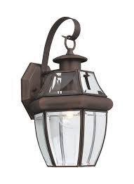 Vintage Outdoor Lights 8067 71 One Light Outdoor Wall Lantern Antique Bronze