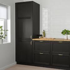 ikea canada black kitchen cabinets lerhyttan door black stained 24x60 61x152 cm