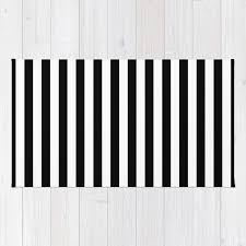 Modern Black Rugs Modern Black White Stripes Monochrome Pattern Rug By Girlyroad