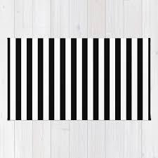 Modern Black And White Rug Modern Black White Stripes Monochrome Pattern Rug By Girlyroad