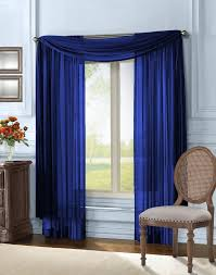 qutain linen solid viole sheer scarf window valance topper 37