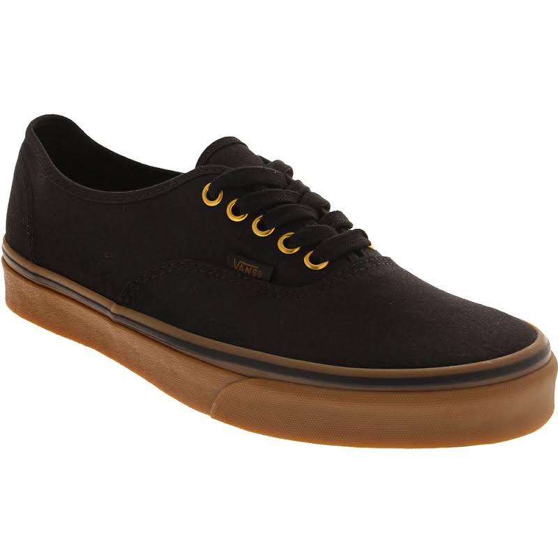 Vans Authentic (Black/Rubber) Skate Shoes-9.5