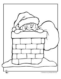 santa chimney coloring woo jr kids activities