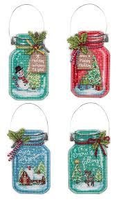 jar counted cross stitch ornaments kit
