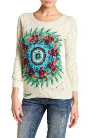 desigual louise embellished sweater nordstrom rack