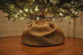 burlap tree skirt how to make a tulip shaped burlap tree skirt apartment therapy