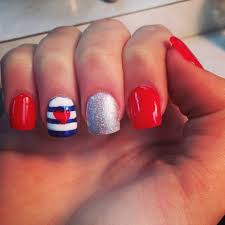 red white and blue nail design nails pinterest blue nails
