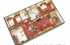 3 Bedroom Floor Plans by 3 Bedroom Suites Near Disney World Floridays Resort Orlando