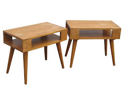 conant ball coffee table pair end tables by russel wright for conant ball nueve grand