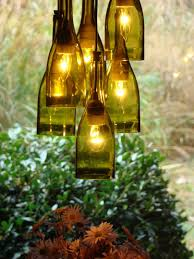 Wine Bottle Chandeliers Wonderful Wood And Iron Chandeliers Recycled Wine Bottle Lighting