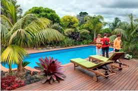 tropical plants in modern swimming pool 9065 house decoration ideas