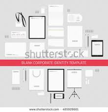 blank corporate identity template set documentation stock vector