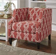ashley furniture sansimeon accent chair in coral best priced