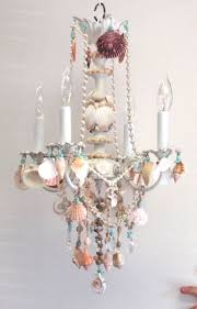 nice shell chandelier for your home interior design remodel with