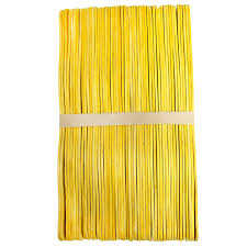 fan sticks yellow wavy wood program fan sticks