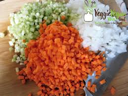 mirepoix cuisine my mirepoix for brunoise peasant soup for assignment