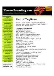 Taglines On Innovation Taglines