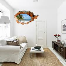 sea home decor 3d beach wall decals 38 inch removable sea wall art stickers home