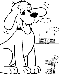 coloring page of a big dog clifford the big red dog coloring pages 006 coloring pages abc