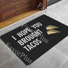 Rubber Backed Carpet Runners Doormats Flooring Entrance Floor Mats With White Tile Floor And Wood Door