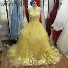 yellow wedding dress amazing yellow wedding dresses 2016 appliques lace gown
