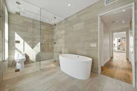 Modern Tiling For Bathrooms Make A Statement With Large Floor Tiles
