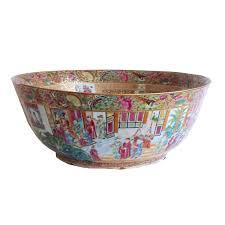 mandarin porcelain export porcelain mandarin punch bowl from a