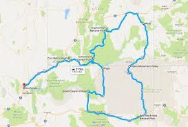 Std Map 19 Tage Im Südwesten Der Usa U2013 Ein Routenbeispiel Durch Nevada