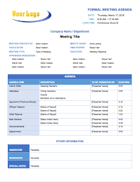 free meeting agenda templates smartsheet