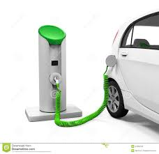 electric car in charging station stock illustration image 47890103