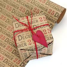 rustic christmas wrapping paper do not open until 25th brown kraft christmas wrapping paper