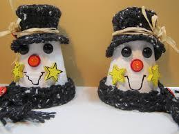 tutorial 3 clay pot snowmen thepolkadotskirt