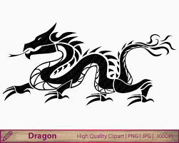 instant digital download chinese dragon tattoo clipart you