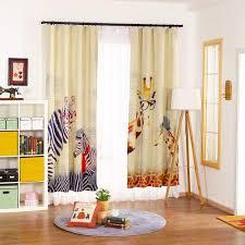 online cheap curtain modern style zebra giraffe linen curtains for