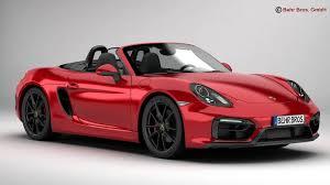 Porsche Boxster Model Car - porsche boxster gts 2015 3d model cgtrader