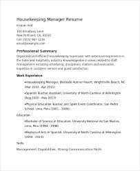 Housekeeping Resume Examples by Supervisor Resume Template 8 Free Word Pdf Document Downloads
