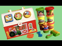 Fisher Price Little People Barn Set Play Dough My Farmhouse Tools Case Set Little People Farmer